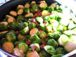 Saute brussels sprouts